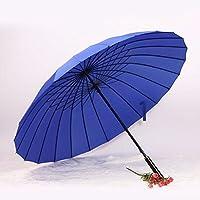 Ombrelloni per gli uomini e le donne di gestire il creative ombrello doppio super 2/3 ombrello ombrello Ombrello diritta 24 ombrello,blu scuro