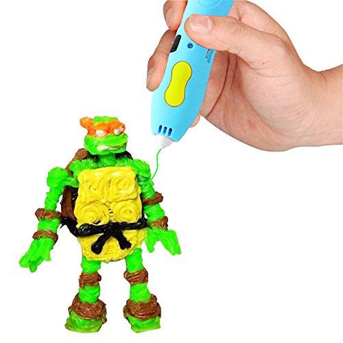 Drahtloser 3D Stift - Niedrige Temperatur, Unter Verwendung von PCL-Filamenten / Mehr Sicher, Lustiger, Bequemer / GAMA 3D Stift GM-W3P-01 / Erstaunliches Geschenk für Kinder. - 5