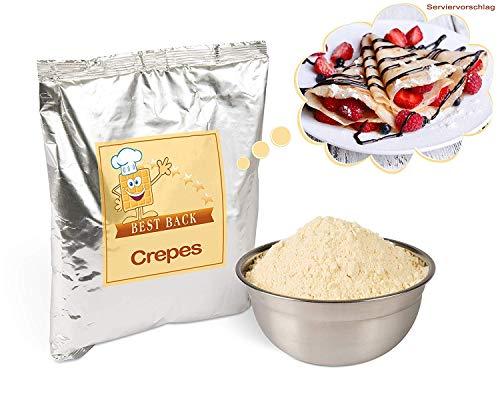 Backmischung für Crêpes, Fertigbackmischung für Crepes, Crepe-Mix, Pfannkuchenteig, Teig-Mix für französische Pfannkuchen - Nur noch Wasser nötig (10 KG)