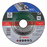 Bosch 2609256340 Grinding Disc Set with Depressed Center for Metal (5-Piece)
