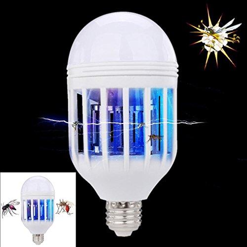 Neue LED Anti-Mosquito Glühbirne 15 W 1000LM 6500 Karat Elektronische Insektenfliege Köder Lampe,Timorly Moskito Mörder Lampe Mörderlampe Zapper Fliegen Licht (Weiß) (Klassische Elektrische Reichweite)