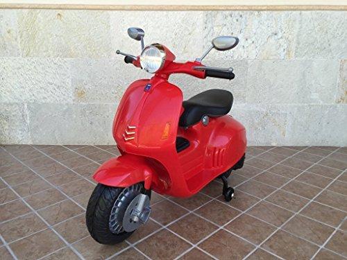 PEKECARS VESPA STYLE 12V RED