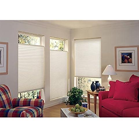 SHINY HOME® lichtdurchlässiges Verdunkelungsrollo Rollo Sonnenschutzrollo ohne Bohren für Fenster Tür 60x130cm Plissees Jalousien Klemmfix mit