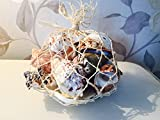 Mezzaluna Gifts Sac en filet avec de véritables coquillages ~ nautique Home Decor Crafts Coque Poissons d'aquarium