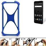 K-S-Trade Bumper für Allview V2 Viper XE Silikon Schutz Hülle Handyhülle Silikoncase Softcase Cover Case Stoßschutz, blau (1x)