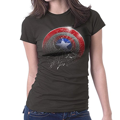 Marvel Spiderman Captain America Spider Shield Women's T-Shirt (Light T-shirt Womens Weihnachten)