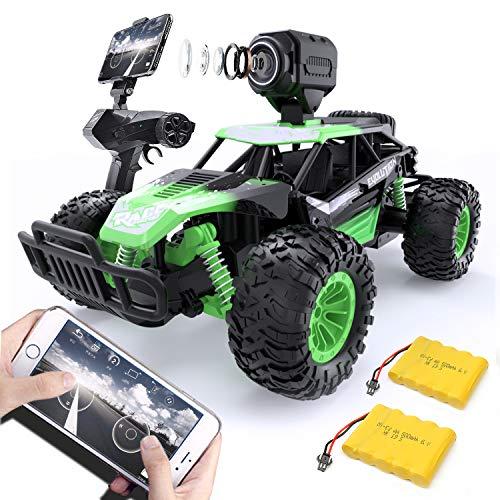 GizmoVine Remote Control Car with HD Camera High Speed Off Road Vehicle Terrain RC Car Truck Buggy for Kids And Adults, Drift Remote Control Car (Green)