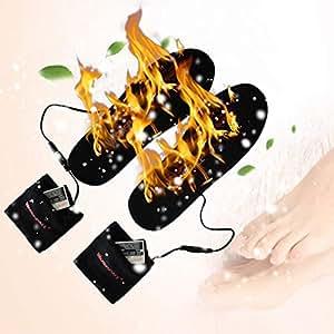 Xinlie Beheizbare Thermosohle Trockenschuh Beheizte Schuheinlagen Beheizbare Einlegesohlen Schuhw/ärmer Schuhtrockner USB Winter Warm Schuheinlage mit UV-Licht zur Desinfektion f/ür Unisex Schuhe