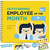 OUTSTANDING EMPLOYEE GIFT - Recognition Award Booklet - Cool Ideas For The Best Employee in the Office! Gifts For Worlds Best Coworker, Worker or Staff!