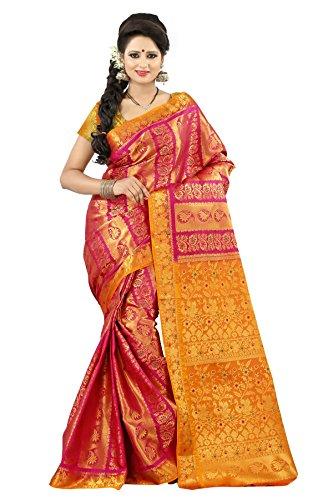 Mimosa Kanchipuram Art silk saree(3072-59-DC-REDRANI)