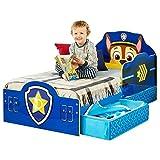 Kinderbett mit Schubladen Paw Patrol Blau 140x70cm - Kleinkinderbett mit stabilem Rausfallschutz