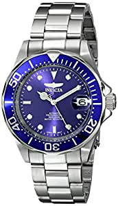 INVICTA Pro Diver Men's Automatic Watch with Blue Dial Analogue Display and Silver Stainless Steel Bracelet 9094