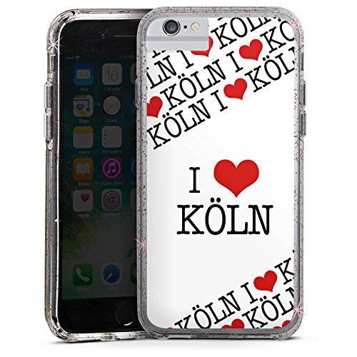 Apple iPhone 8 Bumper Hülle Bumper Case Glitzer Hülle Cologne Statement Saying Bumper Case Glitzer rose gold