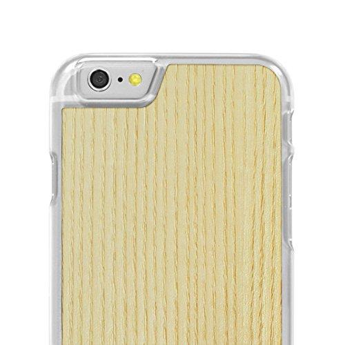 Cover-Up #WoodBack Hülle aus echtem Holz in klar für iPhone 6 / 6s - Kirsche - White Ash
