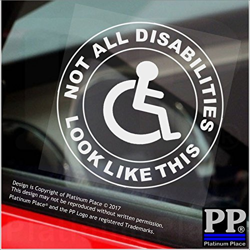 Umschläge Quadratische Braune (1x nicht alle Behinderungen Look wie this-round-window sticker-sign, Auto, Behinderte, blau, Badge, Fahrer, Beifahrer, Patienten, Geduld)