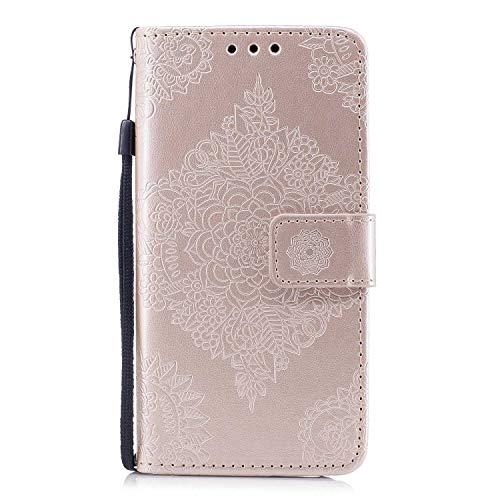 Cover Galaxy A5 2017 The Grafu Flip Custodia Pelle con Funzione di Appoggio Fiore Rilievo Magnetica Cover Protettiva per Samsung Galaxy A5 2017