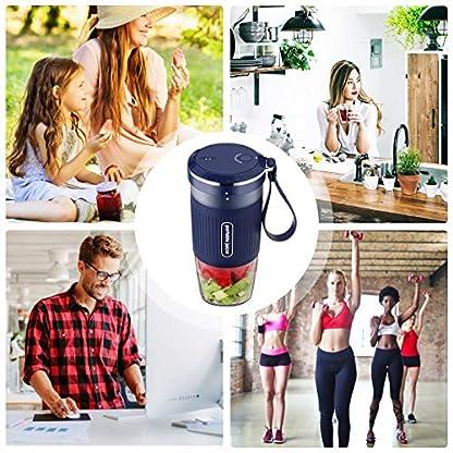 Tragbarer-Mixer-Smoothie-Maker-Godmorn-Mini-Standmixer-mit-USB-Wiederaufladbare-300ml-und-BPA-freie-Tragbar-Entsafter-Blender-fr-Sport-Haushalt-Reise-Outdoor