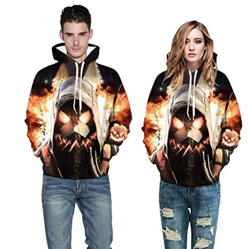 Paar Kostüm Thema Heißes - Halloween-Thema Neue Heiße Hoodie Männer Schwarz Baumwolle Hoodie Paar Sweatshirt Einfache Warm Halten Frauen/männer Hoodie Kleidung