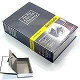 Diccionario desviación libro seguro secreto caja de seguridad Metal con resistente funda interior y cierre con llave para guardar dinero efectivo negr