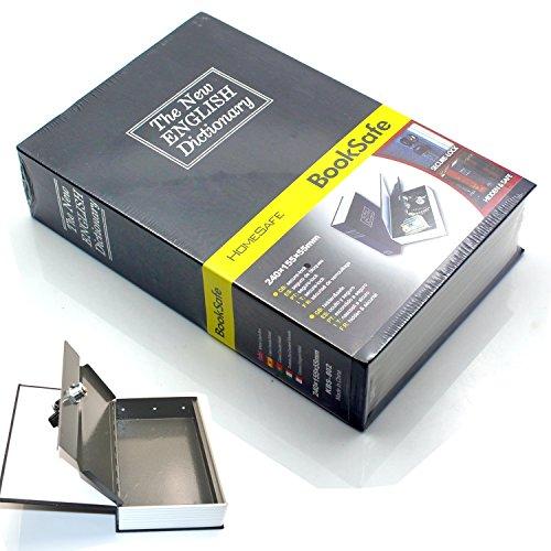 Diccionario desviación libro seguro secreto caja de seguridad Metal con resistente funda...