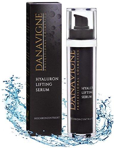 Hyaluronsäure Serum hochdosiert - Lifting Serum mit Antifalten Soforteffekt - Anti-Aging Pflege gegen Falten, Augenringe und unreine Haut -...