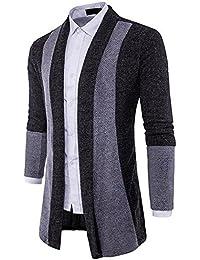 32ddc5968c0c YpingLonk Herren Jacke Sweatshirt strickpullove Cardigan Strickjacke  Strickmantel Strickwaren Reißverschluss Mantel…