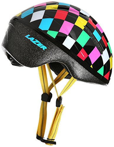 Lazer Kinder Helm Bob Squares, Weiß/Pink Herzen, One Size, BLC2005661795
