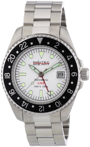 Nautec No Limit Herren-Armbanduhr Deep Sea DS AT-GMT/STSTBKWH