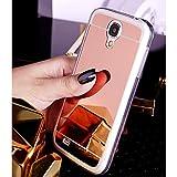 Nadoli Galaxy S4 Spiegel Hülle,Glänzend Shiny Mirror Effect Soft TPU Case Spiegel Flexibel Gel Schutzhülle für Samsung Galaxy S4,Rose Gold