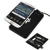 Wireless Kabellos Qi Ladegerät Drahtlose Ladestation Charger und Wireless Receiver Empfänger Adapter Pad für Samsung Galaxy S4 S-IV i9500 i9505 i9506