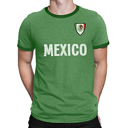 589b73813 Mens Mexico Country Name and Badge T-Shirt Football World Cup 2018 Sports