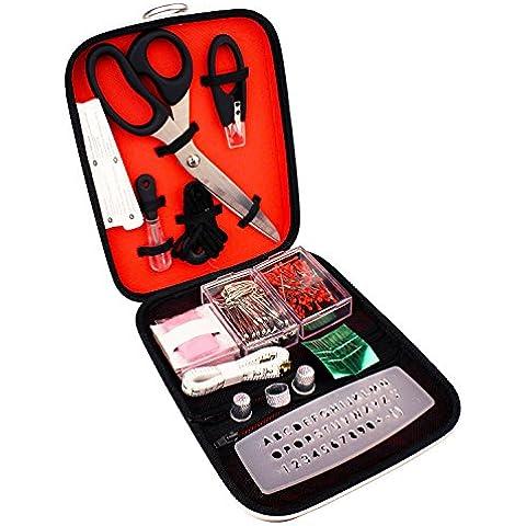 Malmo Kit de Costura para Adultos Portátiles con Tela Tijeras / Cinta Métrica para el Hogar / Viajar