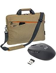 """PEDEA Notebooktasche """"Fashion"""" für 17,3 Zoll (43,9cm) und Schultergurt und Maus, beige"""