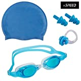 Best Nose Plugs For Swimmings - ispeed Premium Swimming Kit with Antifog Goggles,Silicone Cap Review