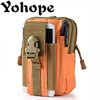Yohope Outdoor sports MOLLE EDC Camping Hiking waistpacks Universal Multipurpose Capacity Carry Accessory Kit Pouch Belt Loops Waist Bag (Orange)