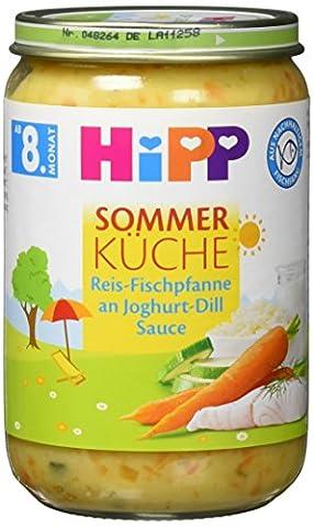 Hipp Sommer-Küche, Reis-Fischpfanne an Joghurt-Dill Sauce, 6er Pack (6 x 220g) (Bio-saison Salz)