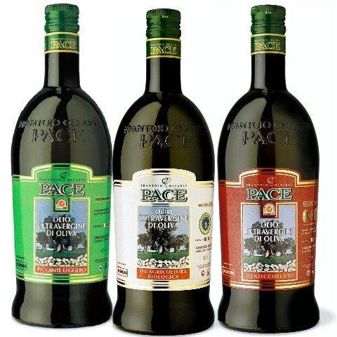 Confezione assaggio speciale italia - 1 bottiglia da 1 lt. di olio extravergine di oliva biologico 1 bottiglia da 1 lt. di olio extravergine di oliva denocciolato 1 bottiglia da 1 lt. di olio extravergine di oliva piccante leggero