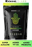 ULTIMATE SUPER GREENS POWDER 250g by BioKing Labs | Premium Organic Super Greens Blend | NO FILLER, NO SUGAR, NO SWEETENER | Our All Natural Alkaline, Vegan Friendly, Superfood Powder Is Packed With Protein, Vitamins, Probiotics & Antioxidants | Developed to Energize, Detoxify & Increase Body Immunity | Includes Spirulina, Flaxseed, Turmeric, Maca, Wheatgrass & More | Made In UK