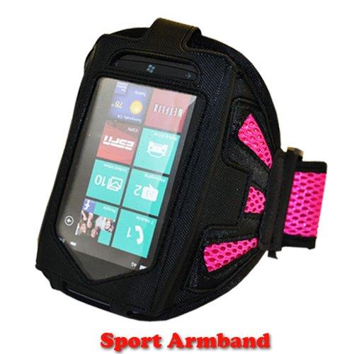 New Hot Pink Farbe Gym Joggen Laufen Radfahren Sport Soft Armband für LG Optimus L3II E430