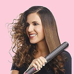 Wende Lisseur Cheveux Fer à Lisser - Redresser et boucler en un seul appareil - avec la nouvelle technologie de chauffage céramique PTC