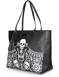 Kleide Damen Handtasche - Red Sugar Skull Clutch aus Kunstleder Loungefly