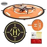 Drone Landing Pad,80CM Helipad Dronepad per DJI Mavic PRO/Mavic Air/Spark/Mavic 2 /Mavic Mini Phantom 3 Phantom 4 Inspire 1 FIMI X8SE Quadcopter