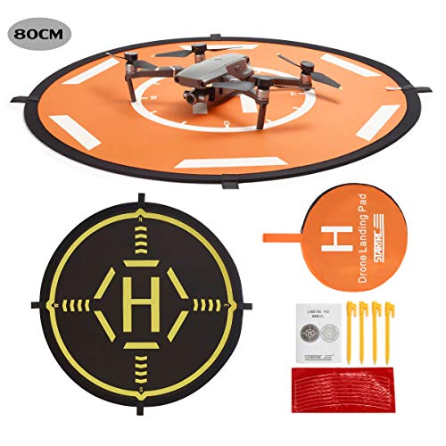 STARTRC Drone Landing Pad Dobladillo Plegable Universal Función para dji Mavic 2 Pro/Zoom/Mavic Air/Mavic Pro/Spark//Phantom/Mavic Mini/FIMI X8SE Drone (80CM)