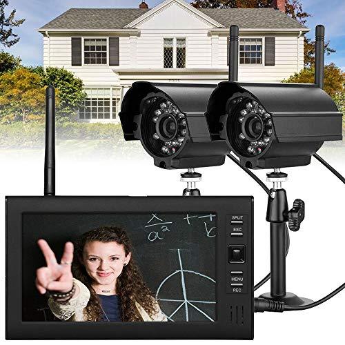 """SENDERPICK Überwachungskamera Set mit Monitor, Funk Kamera Set 2XÜberwachungkamera+ 7\"""" TFT LCD Monitor Video Überwachung"""