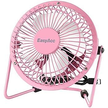 easyacc mini desktop usb ventilator personal fan mit 2600 mah aufladbarer batterie akku led. Black Bedroom Furniture Sets. Home Design Ideas