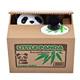 【UNTIL YOU】Cute Stealing Coins Cents Penny Cat Money Box Saving Money Collecting Money Piggy Bank Christmas Gifts for Kids Kids Christmas Gifts (Cute Panda)