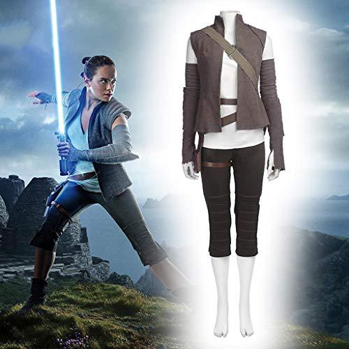 Déguisement Adulte, Cosplay Star Wars Rey Costume Vêtements Noël Halloween Déguisements pour Adult Wear XS