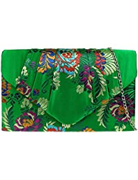 Girly HandBags Flowers Baroque Clutch Bag