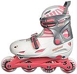 Schreuders Sport Nijdam Unisex Adult 52SC Girls Adjustable Inline Skates - Pink/Grey, One Size
