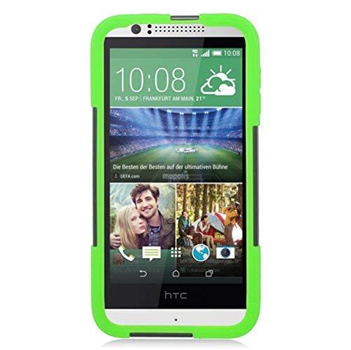 Eagle Zelle Hybrid-Schutzhülle mit Ständer für HTC Desire 510-Retail Verpackung, grün/schwarz